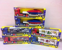 tractor trailer toy trucks with contianer mini car set JS3900809