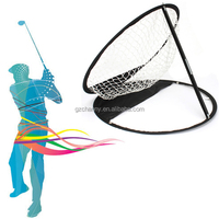 High Quality Portable Folding Golf Ball Practice Training Chipping Net Pop-up Style Black Brand New