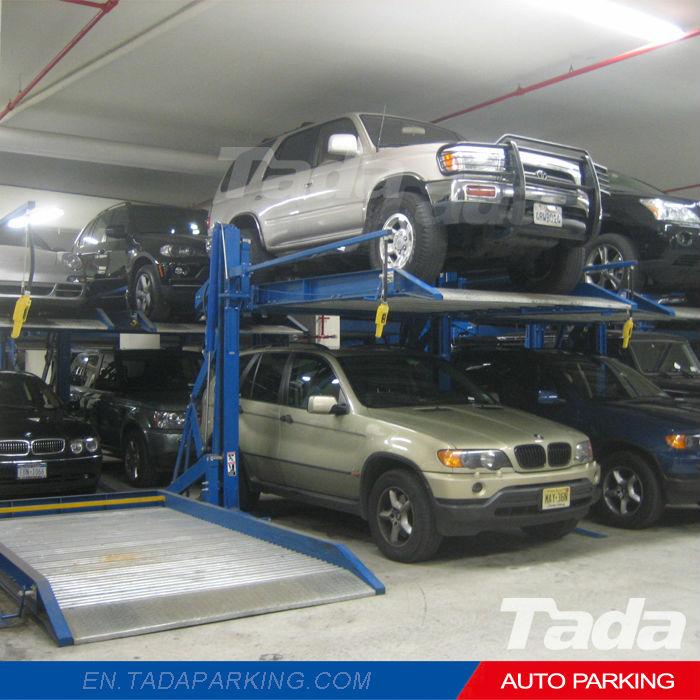 Pyjama ascenseur parking type double pont de stationnement for Ascenseur voiture garage