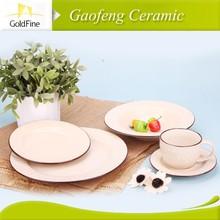 bone china hand painting dinnerware, modern restaurant plates , restaurant plates