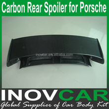 Carbon Fiber Rear Roof Spoiler , Autommobile Spoiler For Porsche Car Rear Spoiler