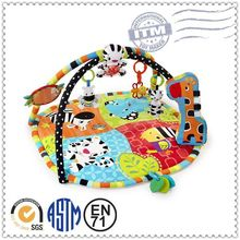 New design educational toy super soft plush baby animal mat
