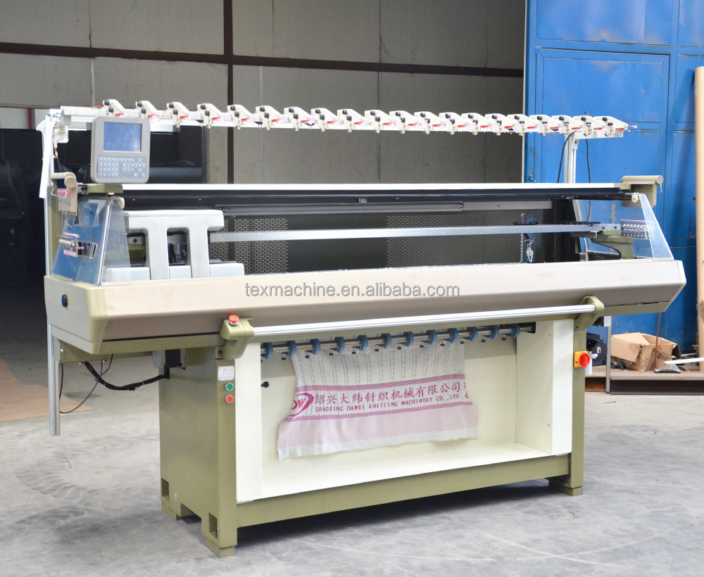 Knitting Machine Price : Pe d double system flat bed knitting machine low price