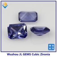 AAA Octagon Cut zircon stone lab created loose stone tanzanite prices