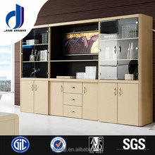 Factory Direct Price Wooden Office Filing Cabinet With Tempered Glass Door