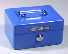EXTRA SMALL CYLINDER LOCK PORTABLE METAL STEEL CASH BOX SAFE
