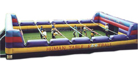 Human foosball,interactive inflatables,inflatable sport game W6051