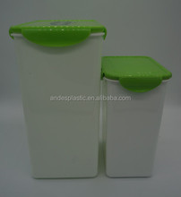 Functional 2pcs plastic storage container with full color printing