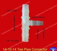 14-10-14 plastic pipe connector,hose connector,pipe fittings