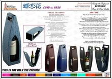 Custom leather wine carrier for one bottle China supplier