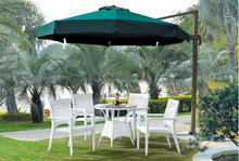 2016 New All Weather Proof Coffee Shop Outdoor Furniture table chairs set with umbrella