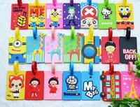 2015 Fashion Customized Hot Sale Wholesale China Promotional Custom Standard Size PVC Luggage Tag