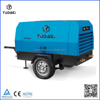 High quality electric 600CFM airman portable screw air compressor 110kw