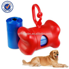 2015 New plastic bone shape Eco-Friendly dog shaped poop bag dispenser