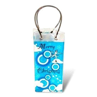 Custom Printed High Quality Recyclable Various Transparent PVC Wine Bottle Ice cooler Carrying Bag