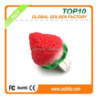 top selling products usb flash drive in alibaba, 8GB/16GB/32GB pendrive, PVC strawberry usb flash drive