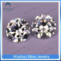 fashion jewelry wholesale stone fake round cz gem aaa