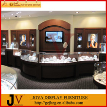 high end wooden and glass gold jewelry shop furniture