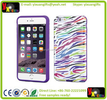 GLITTERY COLORFUL ZEBRA IPHONE6 PLUS GEL SKIN PROTECTIVE UNBENDABLE HARD SOFT COVER CASE