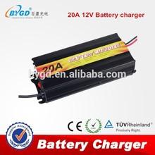20a cargador de batería de la batería con la función de reparación para 12v de plomo ácido de la batería