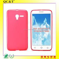 Soft TPU Pudding Case Phone Cover for Alcatel OT5015