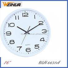 40cm white new design plastic quartz wall clock