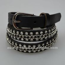 Fashion Casual Pu Leather Ladies Rhinestone Bling Belts