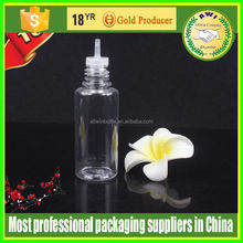 Hot new products for 2015 Black cap pet 10ml plastic bottle e-liquid with childproof dropper cap and long tips