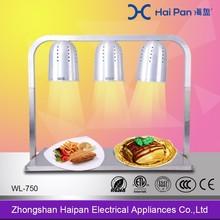 O presente para luxo nutrição saudável buffet alimentos lâmpada quente