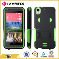 For HTC 626 waterproof hybrid pc+silicon combo case