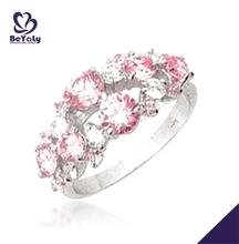 anillos Rosa de plata con flor venta al por mayor anillos para canarios de aves