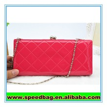 New design Red color women chain wallet/hand bags/ shoulder bags