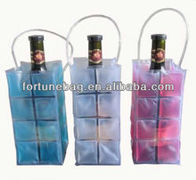 high quality pvc wine bottle gel cooler bags
