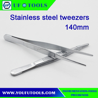 High quality cheap surgical instrument Stainless Steel Medical Tweezers 140mm