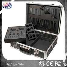 Factory supplier cheap aluminum tattoo carrying case, storage protective tattoo travel case,safe lockable tattoo travel case