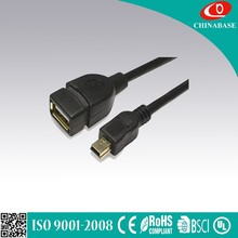 14cm Micro usb OTG Cable for Samsung Galaxy S2 S3 S4 i9500 i9300 i9100 Note 2 N7000 i9220 OTG Adapter black