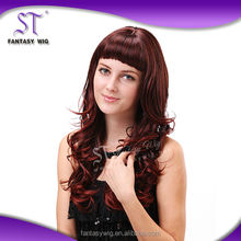 2015 New Product red highlights wigs