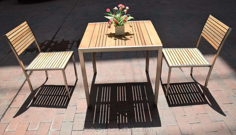 Dehui Brushed Aluminum Patio Garden Furniture Plastic Wood