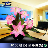 Christmas artificial LED fiber optic flower decoration