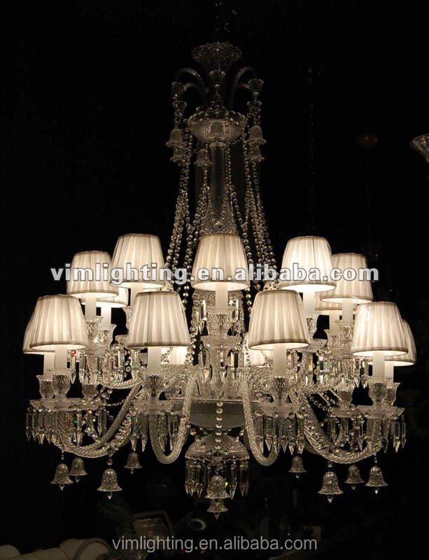 Baccarat stile lampadario di cristallo nero 2355- 10+10bk-Lampadari-Id ...
