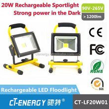 Cool white Portable rechargeable led stand work light factory direct prices for 20 watt rechargeable led flood light