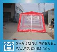 3X3 red hexagonal canopy