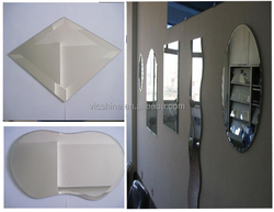 round edge shape aluminum mirror, bathroom aluminum/silver mirror with polished in China factory