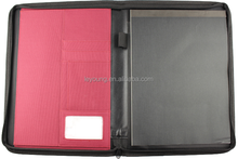 Fashion Design Nylon Zipper Portfolio Case with pockets
