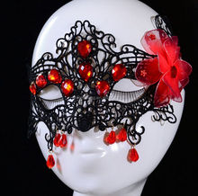 Gothic lace mask,sexy ladies mask with crystals,Halloween costume party mask
