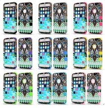 Deft Tribal Style Pattern 3 in 1 Detachable Hybrid Silicone+PC Case for iPhone 6 Case for iPhone 6