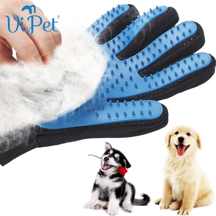 guante Deshedding suave eficiente Pet Grooming guante perro baño gato suministros de limpieza el guante quitar pelo