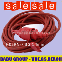 Bulk Extension Cord Rubber Sheath 3 Conductor Power Cable 3G 2.5