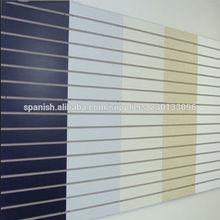 paneles slatwall / melamine mdf ranurado tablero / gancho slatwall