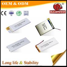 Safe performance under PCM protection 36650 flat 5v 12v lithium battery